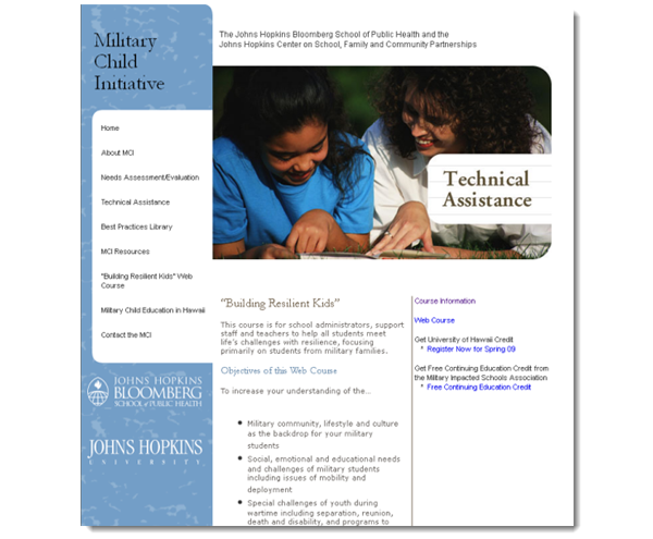 Building Resilient Kids: Military Child Initiative Instructional Design