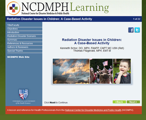 Radiation Disaster Issues in Children: A Case-Based Activity
